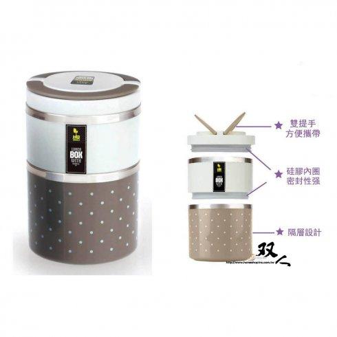 韓式雙層手提便當盒